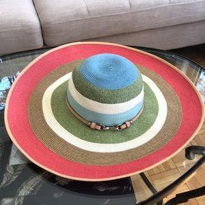 NWOT! COACH Hamptons Stripe Straw Hat ☀️